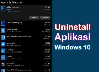 Cara uninstall aplikasi di Laptop Windows 10