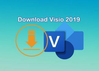 Cara donwload file Microsoft Visio 2019 gratis langsung dari server Microsoft
