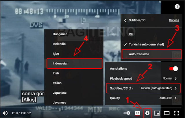 Membuat terjemahan otomatis di YouTube