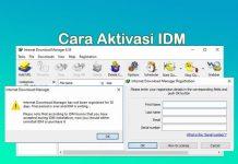 Cara aktivasi dan registrasi IDM gratis dan permanen tanpa serial number