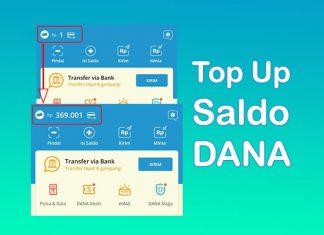 Cara top up saldo aplikasi Dana