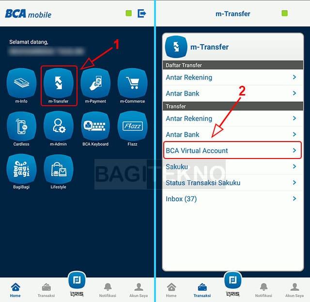 top up dana pake virtual account BCA