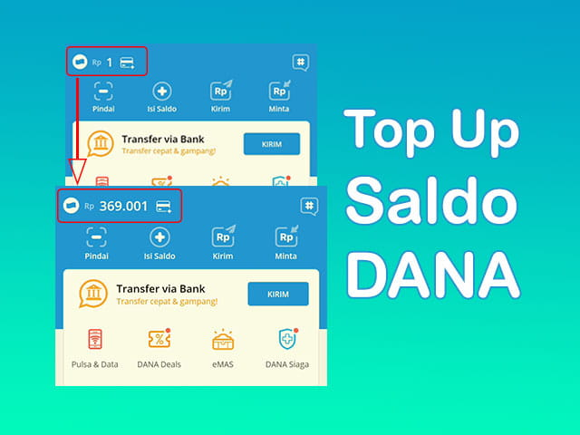 Cara top up saldo aplikasi Dana