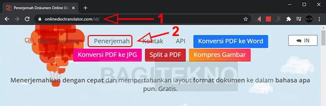 Terjemahkan file PDF menggunakan Doc Translator