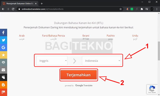 Terjemahkan file PDF dari Inggris ke Indonesia