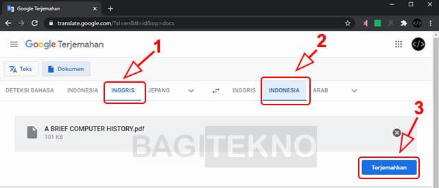 Terjemahkan file PDF bahasa Inggris ke Indonesia