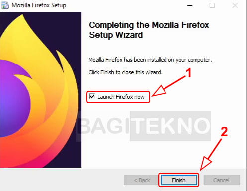 Mozilla Firefox sudah terinstall di Komputer