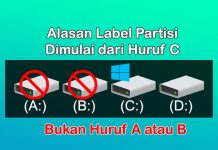 Kenapa label partisi Hardisk Windows dimulai dari huruf C, bukan A atau B?
