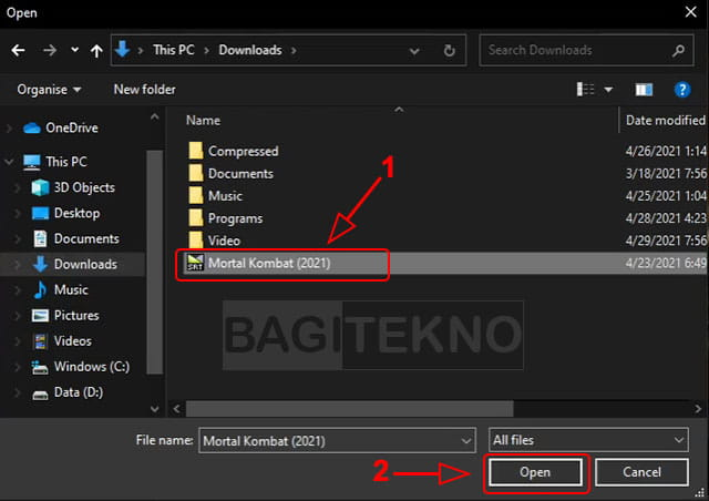 cara menambahkan subtitle di pemutar video Windows 10