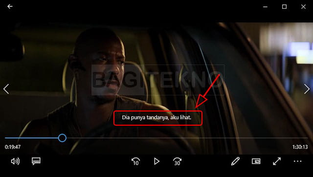 Memutar video dengan sub Indo di Movies & TV Windows 10