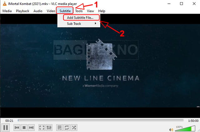 cara menambahkan file subtitle ke VLC media player
