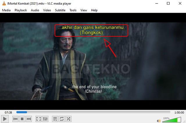 memutar video ditambah subtitle di VLC