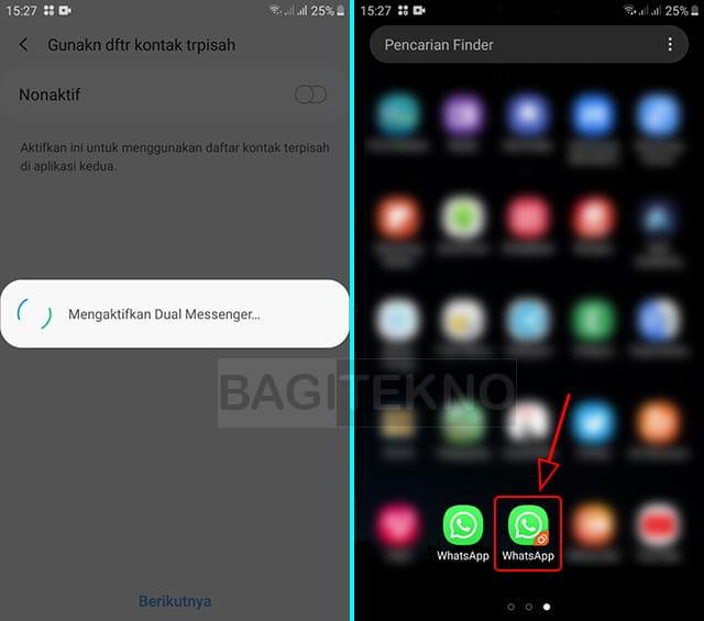 Cara masuk ke dua akun WhatsApp di 1 HP
