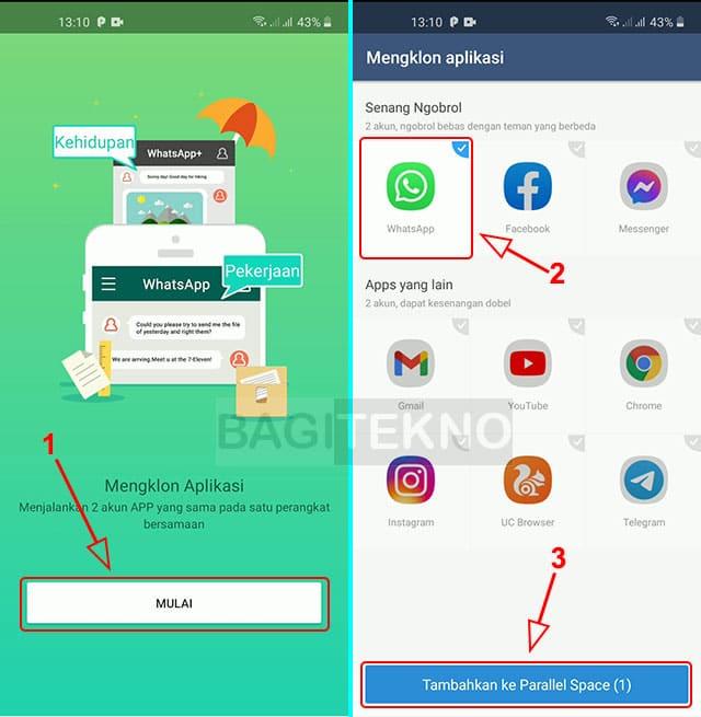 Cara menggunakan dua akun WA di semua HP Android