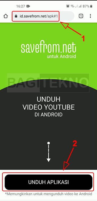download aplikasi savefrom di Android