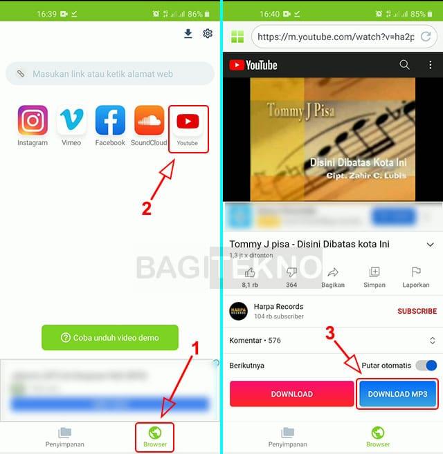 Cara ubah video musik YouTube menjadi Mp3 di Android