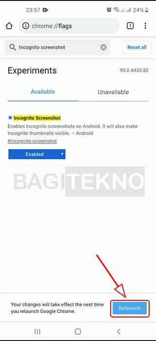 cara agar bisa mengambil tangkapan layar Google Chrome Android