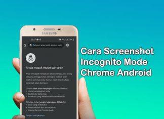 Cara mengambil screenshot pada incognito mode browser Google Chrome
