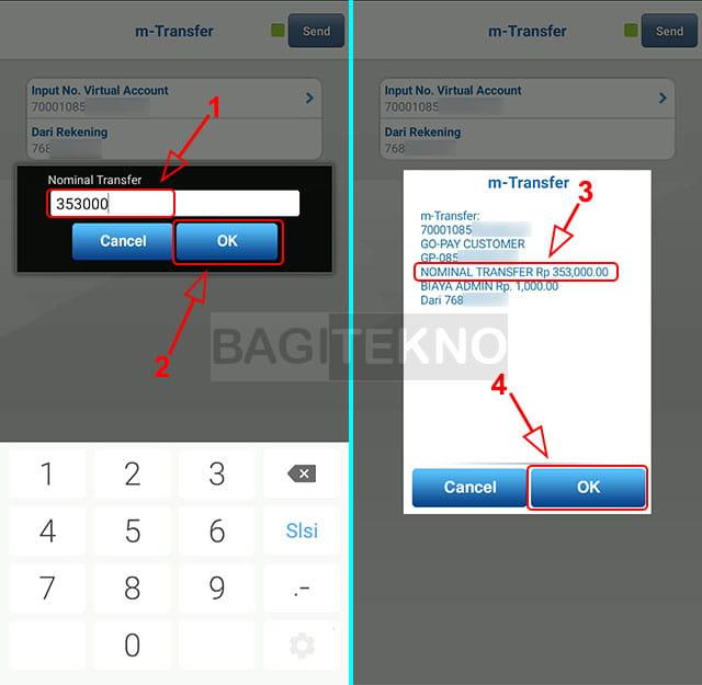 Mengisi saldo GoPay yang habis dengan Mobile Banking BCA