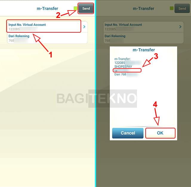 cara top up saldo ShopeePay lewat Mobile Banking BCA