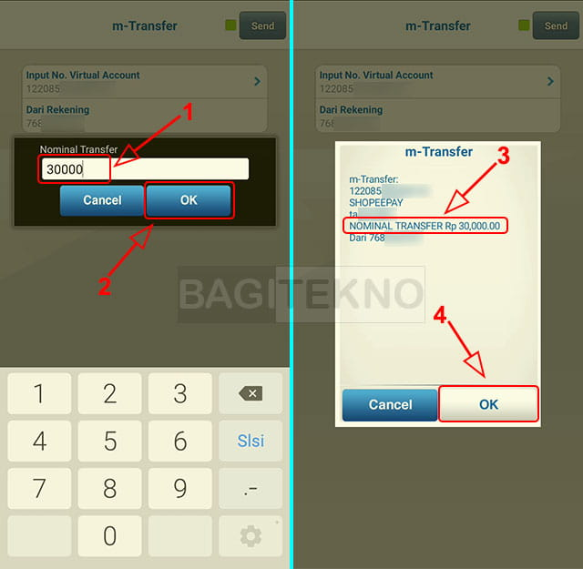 cara isi ulang saldo ShopeePay menggunakan BCA Mobile