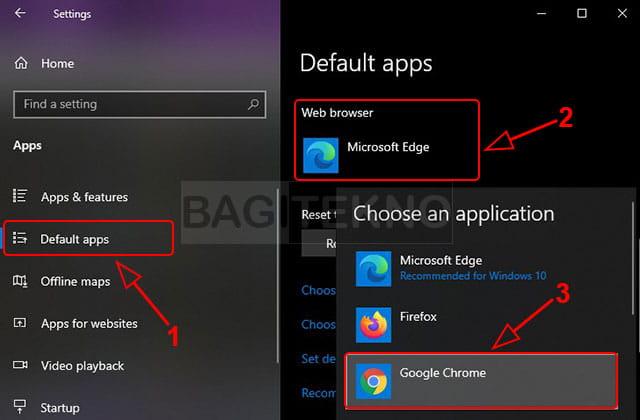 cara menjadikan google chrome sebagai default browser di laptop