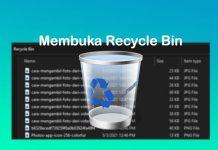 Cara membuka folder Recycle Bin di Laptop Windows 10