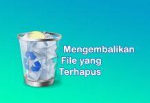 cara mengembalikan file di recycle bin