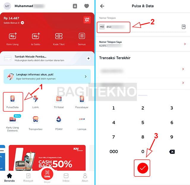 beli pulsa kartu as telkomsel di aplikasi LinkAja