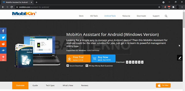 Halaman download MobiKin Assistant for Android