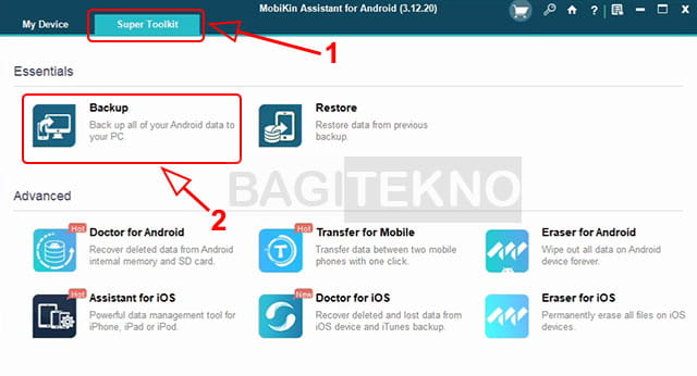 backup data Android ke PC Windows dengan MobiKin Assistant for Android