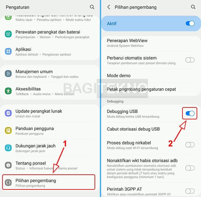 Cara mengaktifkan fitur USB debugging pada HP Android