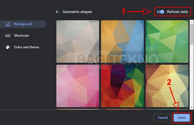 Membuat background Google Chrome berganti secara otomatis