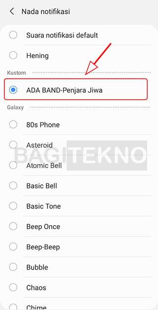 Mengganti nada dering notifikasi WA dengan lagu
