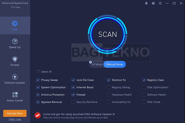 Fitur Care Advanced SystemCare Free