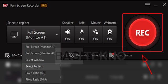 Cara merekam layar menggunakan iFun screen recorder