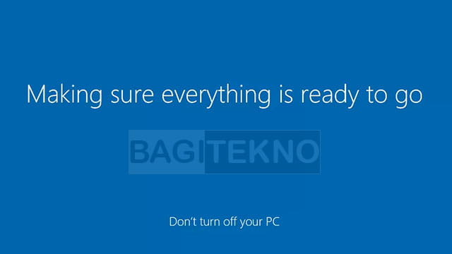 finalisasi konfigurasi Windows 10