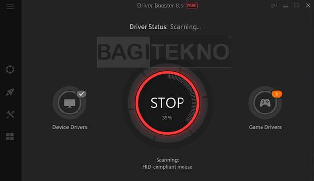 proses scanning driver sedang berlangsung