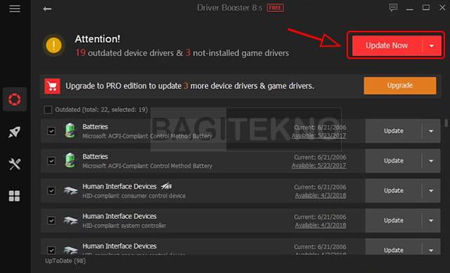 Install semua driver Laptop Windows dengan sekali klik menggunakan driver booster