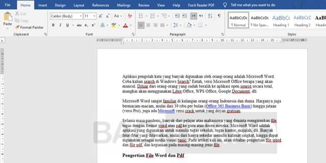 Membuka File Word