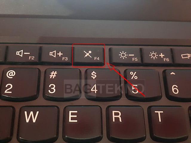 Cara pintas untuk nonaktifkan mikrofon Laptop