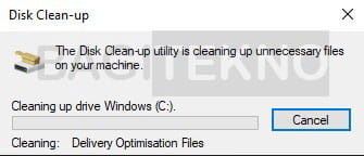 membersihkan file-file sampah di sistem Windows