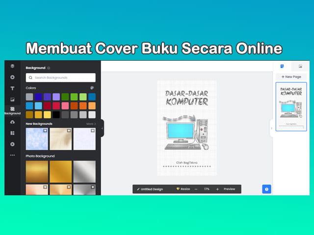 Cara membuat cover buku secara online dan gratis