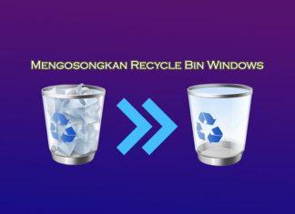 cara mengosongkan recycle bin di Laptop Windows 10 8 7