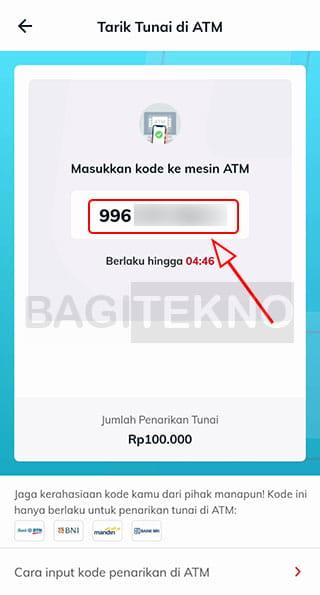 Kode penarikan saldo Link Aja di ATM