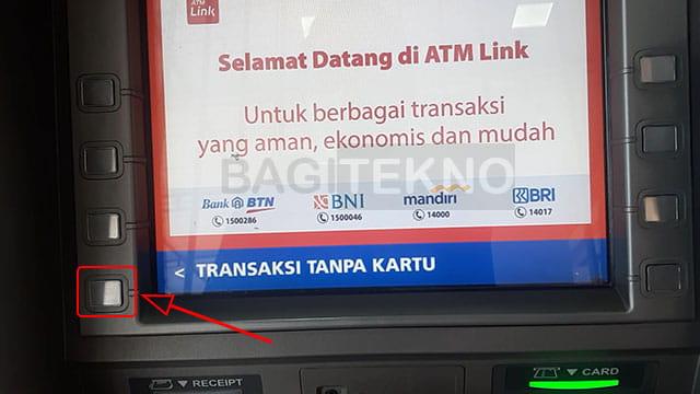 Melakukan penarikan tunai saldo LinkAja di ATM BRI, Mandiri, dan BTN