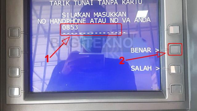 Masukkan nomor Hp Link Aja di mesin ATM BRI, Mandiri, dan BTN