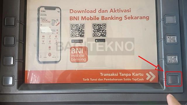 Melakukan penarikan tunai saldo LinkAja di ATM BNI