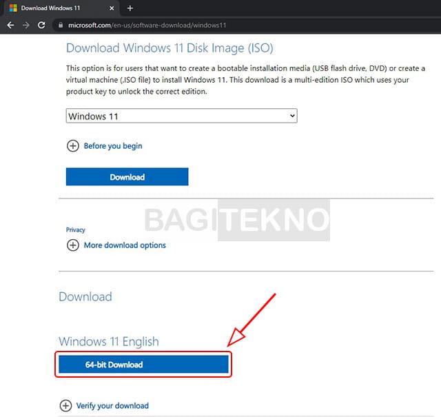 Download Windows 11 64 bit di Laptop secara gratis