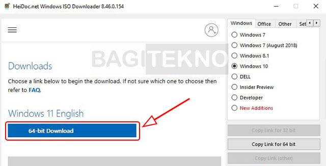 Cara download file ISO Windows 11 orisinil langsung dari server Microsoft